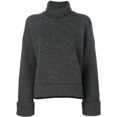 Dsquared2 turtle neck sweater ($1,270) ❤ liked on Polyvore featuring tops, sweaters, grey, knitwear sweater, grey jumper, turtle neck top, grey long sleeve sweater and long sleeve tops