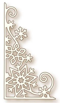 Wild Rose Studio - Cutting Die - Snowflake Corner - The Rubber Buggy in Crafts, Scrapbooking & Paper Crafts, Scrapbooking Tools Christmas Stencils, Christmas Templates, Christmas Themes, Christmas Crafts, Christmas Decorations, Xmas, Christmas Ornaments, Snowflake Decorations, Simple Snowflake