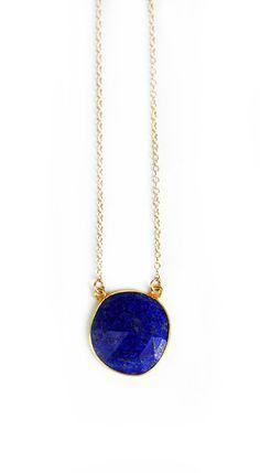 Collier lapis lazuli bleu - €40,68 EUR