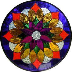 #Mandala - Custom Made Stained Glass Hanging Panel