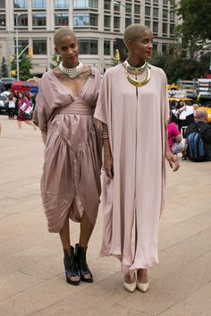 Coco and Breezy in Anndra Neen @ NYFW  Ph: Ali Kate Cherkis www.alicherkis.com