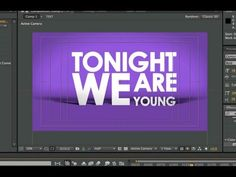After Effects Tutorial - Basic Typography & Motion Graphics