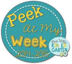 Peek at My Week ~ August 25 - 29