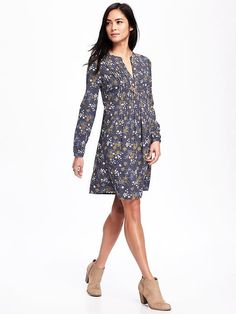 Old Navy Floral Dress for Fall