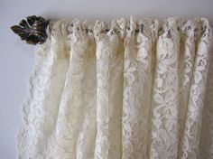 make lace curtains | Curtain, Cafe, Window Curtain, Lace Cafe Curtain with Scalloped Edges ...