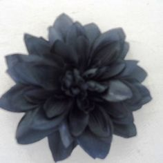 Black Dahlia Flower on Velvet Rose's Pin Up Dressing Room - The vintage shop tailored to you #PinUpHairFlower #StockingStuffer Free Postage within Australia