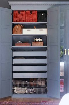 Ikea Pax System,- ( multi finish options) custom design wardrobe for storage needs, open or closed storage. Choose rods, shelves or pull out drawers.  (best dimensions for your space between windows = 39 3/8 W ... 79 1/8 H...22 7/8 D