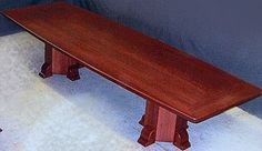 Unique rich red finish solid wood Boardroom tables, hand made hardwood conference room tables by Neal Burns