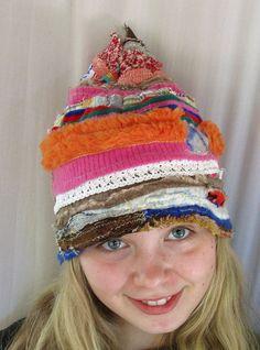 Super fun scrappy hat!