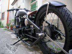 thumper chopper - left-rear   afs custom bikes