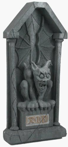 Large Gargoyle Halloween Tombstone Prop by BOS. $159.14