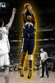 Jermaine O'Neal #7 - Indiana Pacers'07 Jermaine O'neal, Indiana Pacers, All Star, Nba, Basketball, Passion, Game, Sports, Movies