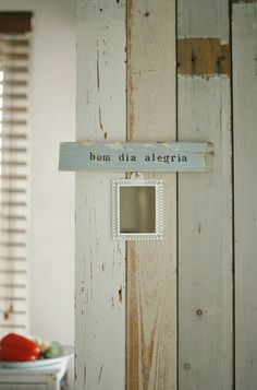 wood & word sign [bom dia alegria] | for Ana Luísa explore N… | Flickr