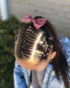 Easy Toddler Hairstyles, Lil Girl Hairstyles, Braided Ponytail Hairstyles, Fancy Hairstyles, Quince Hairstyles, Holiday Hairstyles, Girl Hair Dos, Natural Hair Styles, Long Hair Styles