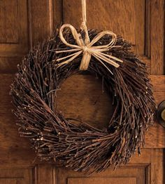 Twig Wreaths for the tables