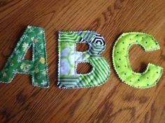Plush ABC's by SaylorsNest on Etsy, $9.00