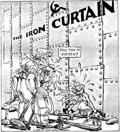 Awesome Cold War Cartoon On Iron Curtain