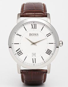 Hugo Boss Brown Leather Strap Watch 1513136