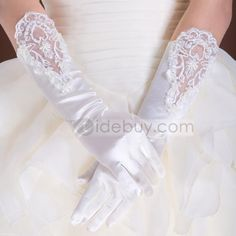 Long Wedding Gloves with Floral Edge #retro wedding ... Wedding ideas for brides, grooms, parents & planners ... https://itunes.apple.com/us/app/the-gold-wedding-planner/id498112599?ls=1=8 … plus how to organise an entire wedding, without overspending ♥ The Gold Wedding Planner iPhone App ♥