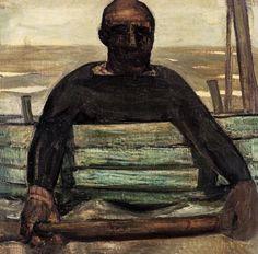 Constant Permeke , Visser in veerpont (ca. 1913)