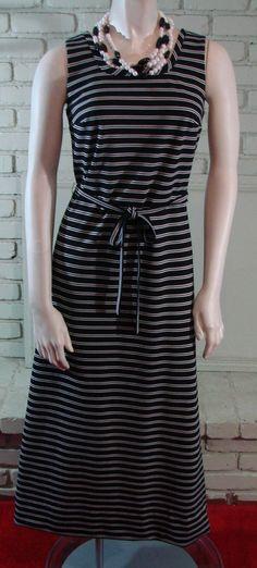 Vintage 70s Circette Black & White striped by TheScarletMonkey