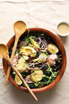 EASIEST Detox Salad with a No-MIX Dressing! #vegan #glutenfree #plantbased #healthy #salad