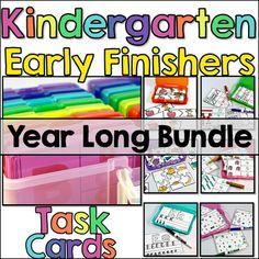 Early Finisher Activities | Task Card Bundle for Kindergarten