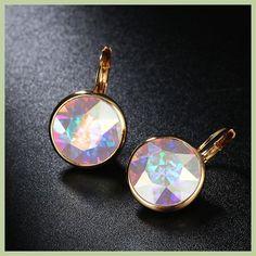 67268699c white bella crystal earrings for women real crystal from Austrian fashion  stud earrings party jewelry accessories. JoyasFiesta De ...