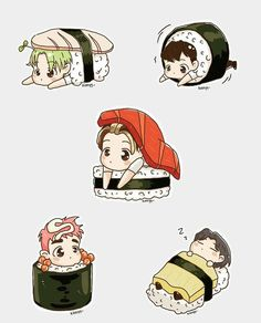 BIG BANG SUSHI FANART