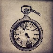 """tattoo with """"time is of the essence"""" written as the chain. (:"""