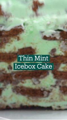 Desserts To Make, Frozen Desserts, Delicious Desserts, Yummy Food, Fun Baking Recipes, Sweet Recipes, Dessert Recipes, Cooking Recipes, Thin Mints