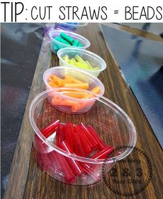 See how using cut straws instead of beads helps little hands learn how to thread! Activities For 3 Year Olds, 3 Year Old Preschool, Toddler Activities, Toddler Play, Toddler Learning, Preschool Learning, Toddler Preschool, Fun Learning, Preschool Activities