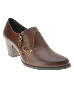 Look at this Spring Step Brown Wyette Leather Bootie on #zulily today!