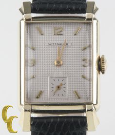 Wittnauer Vtg Men's 10k Gold Filled Hand-Winding Watch #73 w/ Leather Band #Wittnauer #Dress