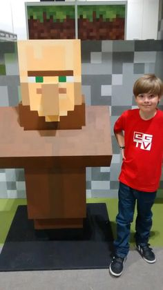 Hanging out with a villager at #Minecon2015 #Minecon