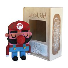 Mario de madeira - por Amanda Visell