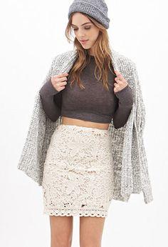 Floral Crochet Skirt   FOREVER21 - 2000102197