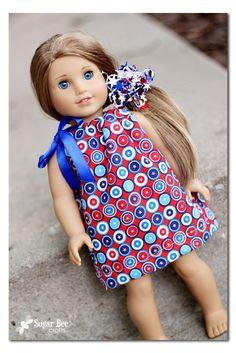Simple Doll Dress using Fat Quarter - Sugar Bee Crafts