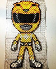 Instagram media by perlerbeadjake - GO GO POWER RANGERS! #yellowranger…