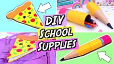 DIY School Supplies! FUN and EASY DIY Back To School Supplies 2017!