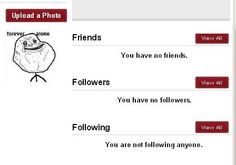 social media sites have no friend and followers,
