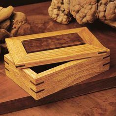 This simple Splined Ornamental Box project doesn't require a lot of work, but the end result is solid construction and a rich-looking face with matching splines. The finished box is versatile enough to make a fine gift for anyone ? man, woman, or child.MATERIALS NOT INCLUDED; PAPER PLAN ONLY. #DiyWoodworkingSimple Kids Woodworking Projects, Woodworking Furniture Plans, Woodworking Box, Wood Projects, Woodworking Workshop, Woodworking Blueprints, Woodworking Articles, Youtube Woodworking, Woodworking Machinery