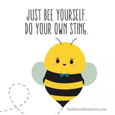 Hive got to say, I'm feeling like a real queen today!  #funusualsuspects #bees #bee #queenbee #beyourself #puns #punny #kawaii #illustration #behappy #doyou #doyourthing #motivational #laffirmation #savethebees