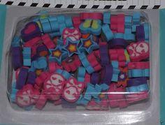 Mini Erasers, School Supplies, Party Favors, Teacher Reward, Skull Star Flower  #Unbranded