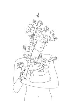 Minimal Line Art Woman With Wild Roses Laptop & Ipad Skin by Nadja - MacBook Pro Retina Petit Tattoo, Rose Tattoos For Women, Outline Art, Rose Art, Rose Line Art, Rose Frame, Art And Illustration, Minimalist Art, Line Drawing