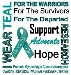 Ovarian Cancer Awareness ~ September is Gynecological Cancer Awareness Month. Ovarian Cancer Awareness, Cervical Cancer, Breast Cancer, Home Remedies Beauty, Cancer Fighting Foods, Cancer Facts, Cancer Quotes, Cancer Support, Words