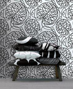 Marimekko Marimekko  Bottna Wallpaper Black/White - KIITOSlife - 2