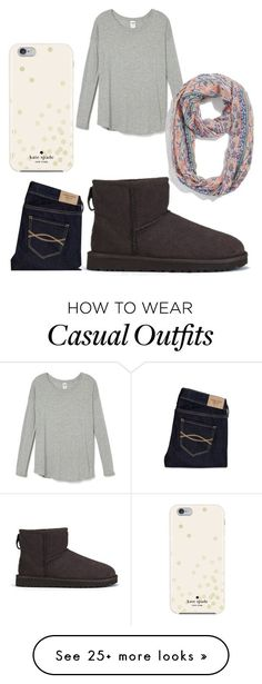 """Casual outfit"" by gabriellaz-9 on Polyvore featuring Kate Spade, maurices, Abercrombie & Fitch and UGG Australia"