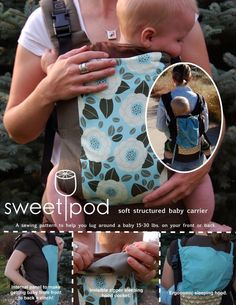 SweetPod baby carrier PDF sewing pattern.  always wanted to get this pattern.....