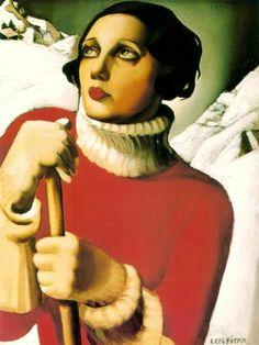 Saint Moritz, by Tamara de Lempicka - 1929